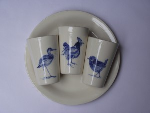 blauw wit serviesgoed
